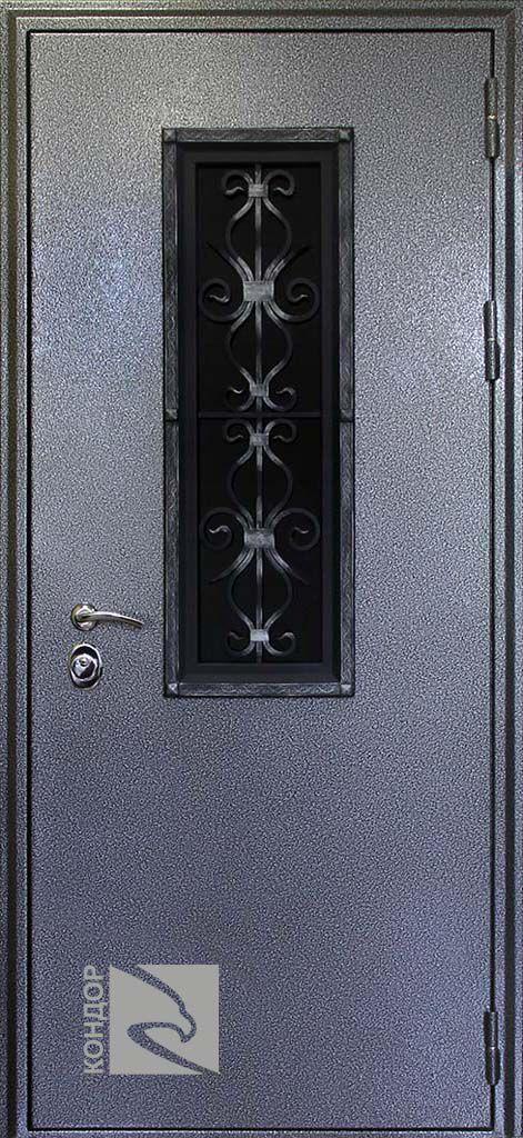 металлическая дверь коттедж
